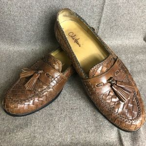 Cole Haan Leather Weave Loafers 9.5M